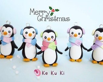 2 units/Penguin ornaments for Christmas tree, home decor/Christmas Tree Decor