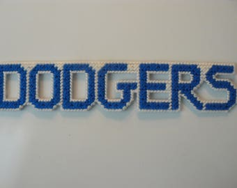 Dodgers in Handmade, Needlepoint Magnets