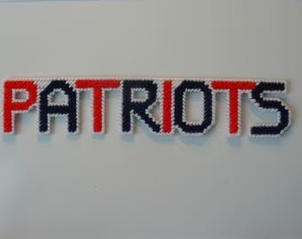 PATRIOTS in Handmade, Needlepoint Magnets