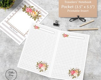 Grid Notebook, Grid Planner Insert, Pocket TN Inserts, Pocket Daily Inserts, Pocket TN Printable, Pocket Inserts, Field Notes Inserts