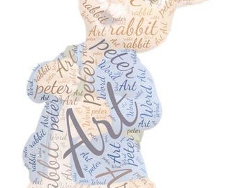 Personalised peter rabbit  Word Art Gift Framed Wedding Anniversary Engagement Birthday Son Daughter Auntie Sister Gift