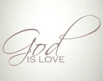 God is Love wall decal