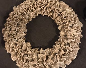 All Season Plain Burlap Wreath