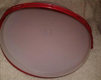 Tupperware Vintage Red Veggie/Fruit Tray