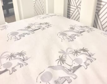 Elephants Crib Sheet