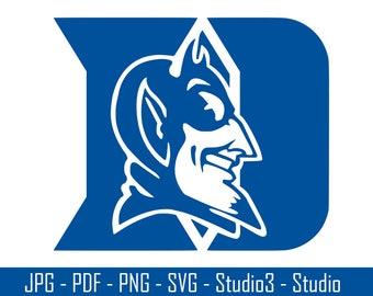 Duke Blue Devils, Blue Devils, College Sports, Basketball - Cut Files - SVG, PNG, Studio, Studio3 - Silhoutte. Cricut and More - CS043