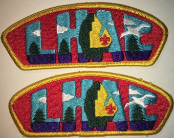 Boy Scout of America - LHAC Council - Shoulder Patch - Set of Two - Used
