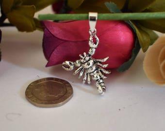 Scorpion Pendant, Sterling Silver 925