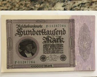Reichsbanknote 1923, 100000 Mark X 15