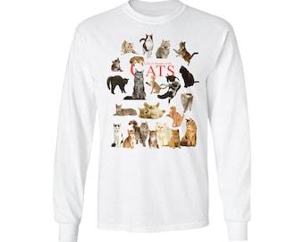 Life is Better with Cats - Science Nerd Fun Geek Long Sleeve T-Shirt