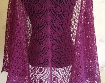 wool lace shawl