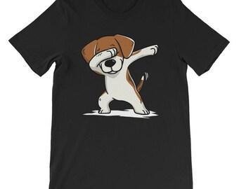 Cute Beagle Dog Dabbing T-Shirt Funny Dab Dance Gift Shirt