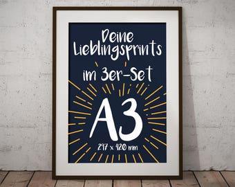 Set of 3 | A3-Prints | Favourite Motifs | Artprints | Poster