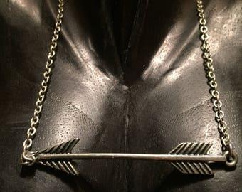 AWESOME Arrow Silver Necklace- Mockingjay