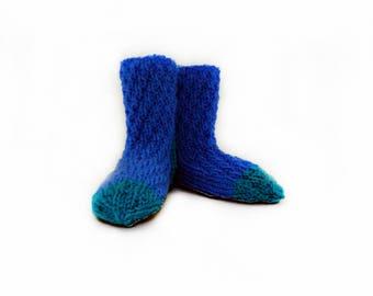 House slippers, Slipper socks, knitted socks