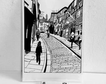 Limited Edition fine art giclee print - Steep Hill