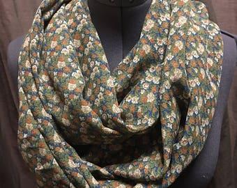 Flower infinity scarf