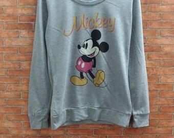 Rare!!Disney Mickey Mouse Sweatshirt Small Size