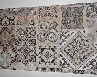 "Rectangular tablecloth 6 places, ""decorations"""