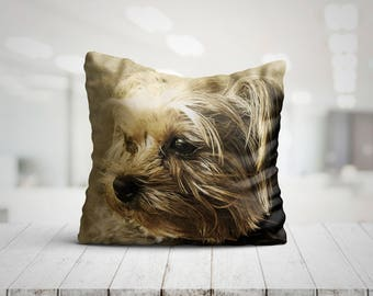 TERRA Yorkshire Terrier Dog Best Pillow Gifts, Throw Pillow Dog, Dog Lover Gift, Dog Mom Gift, Pillow Christmas Gifts, Pet Gifts For Her