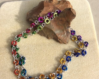 Ombre chainmaille necklace or lanyard