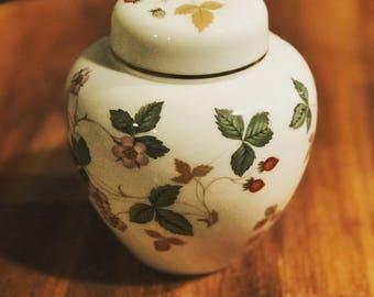 Wedgwood wild strawberry ginger jar