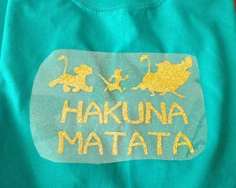 Iron on transfers for Magical Vacations,  Iron on Decal,  Heat Transfer,  Iron on Vinyl, DIY Iron on  Shirts, Family, Animal, Hakuna Matata