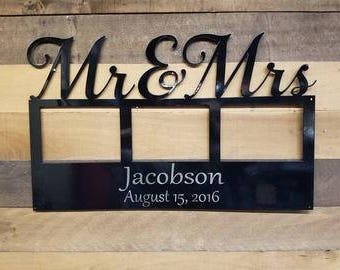 Personalized Mr and Mrs Photo frame