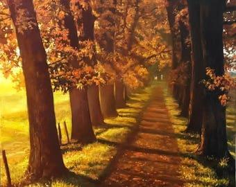 Original Oil painting - Autumn