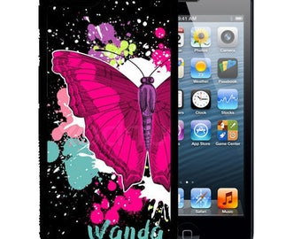 Personalized Rubber Case For iPhone X, 8, 8 plus, 7, 7 plus, 6s, 6s plus, 5, 5s, 5c, SE - Butterfly Splatter