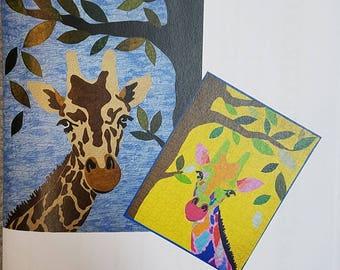 Jake the Giraffe - Quilt Pattern 24x32