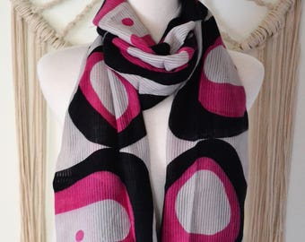 Feeling Abstract Cashmere Silk Blend Scarf, Cashmere Shawl, Cashmere Wrap, Women's Fashion Scarves, Cashmere Scarf, Abstract Cashmere Shawl