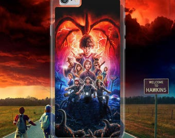 Stranger Things American TV Series Red Spider Web Horror Hard Plastic Phone Case Cover For iPhone, Samsung & Huawei Models Tracked Postage