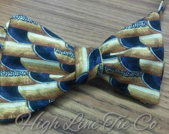 Handmade Silk Reversible Self-Tie Bow Tie, One-of-a-kind