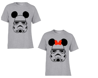 Star Wars His or Hers stormtrooper Mickey/Minnie