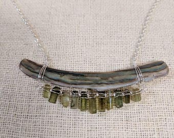 Abalone and Tourmaline Necklace