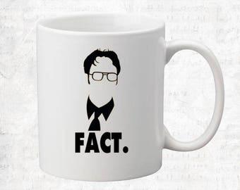Fact Coffee Mug Novelty Funny Coffee Mug from The Office Dwight Schrute Mug