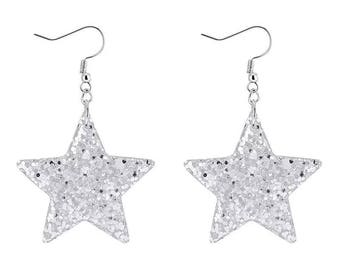 Hand made: Christmas essential- blink blink star shape Earrings