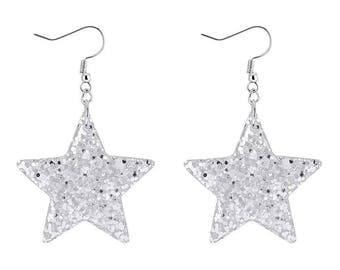 Hand made: Christmas essential- blink blink star shape Earrings