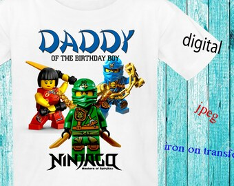 Daddy,Ninjago Birthday Shirt DIY, Ninjago Iron On Transfer DIY, Ninjago Birthday Boy Shirt Iron On Transfer,Instant Download,Digital File