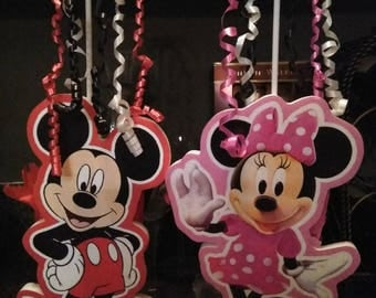 Mickey and minnie centerpieces 2pc. set