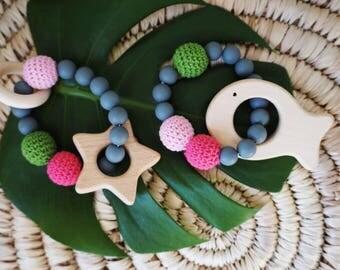 tropical sensory teething rings