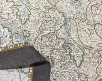 Paisley handkerchiefs, brown edge handkerchiefs, Paisley pattern