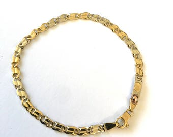 18ct Gold solid two-tone Bracelet