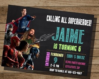 Justice League Invitation-Justice League Birthday-Justice League Party-Justice League Invite-Boy birthday - Any Age