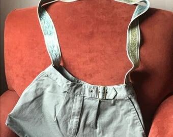 Messenger Bag, cross body or shoulder bag, refurbished denim