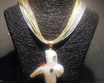 Bird Shape pearl pendant necklace