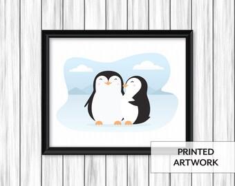 Cute Penguin Couple Print