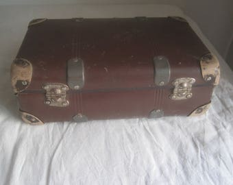 French vintage suitcase