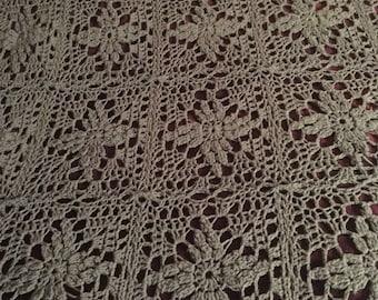 Custom made crocheted blanket